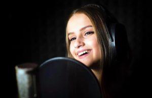 Astrid en Studio enregistrement